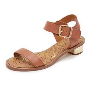 Sam Edelman Trina Block Heel Sandals Tan